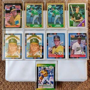 Lot of 18 Mark McGwire Baseball Cards